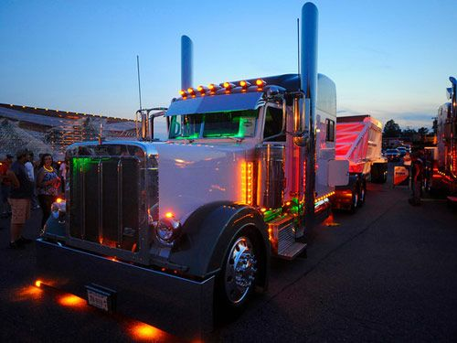 What happens when truckers get bored? These customized and pampered big-rig trucks exhibited at the Shell Rotella Super Rigs show may be the answer to that question.