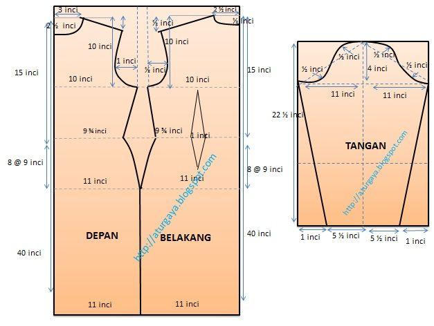 aturgaya blogspot.com: Contoh pola Baju kurung Moden + Kain Selisih