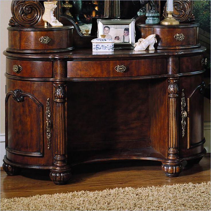 Pulaski Edwardian Wood Makeup Vanity Table