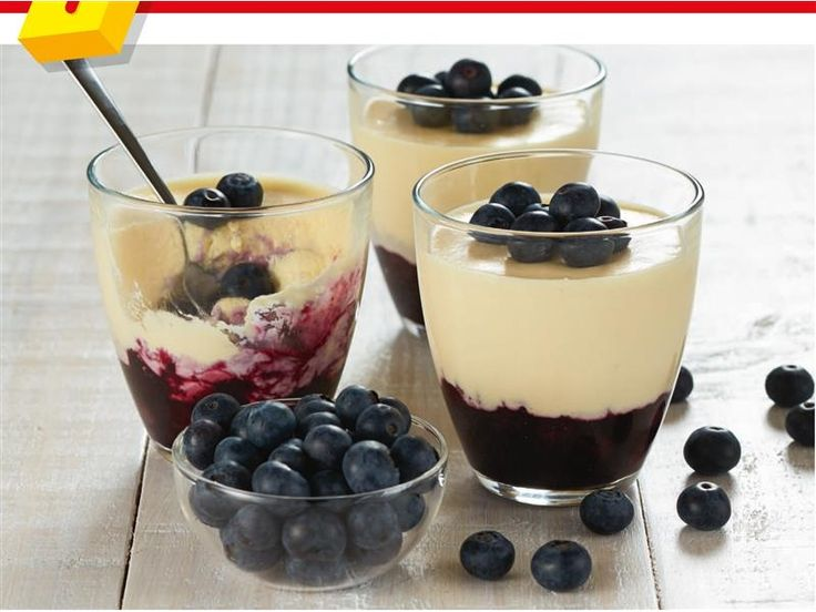 White Chocolate Mousse With Blueberry Compote