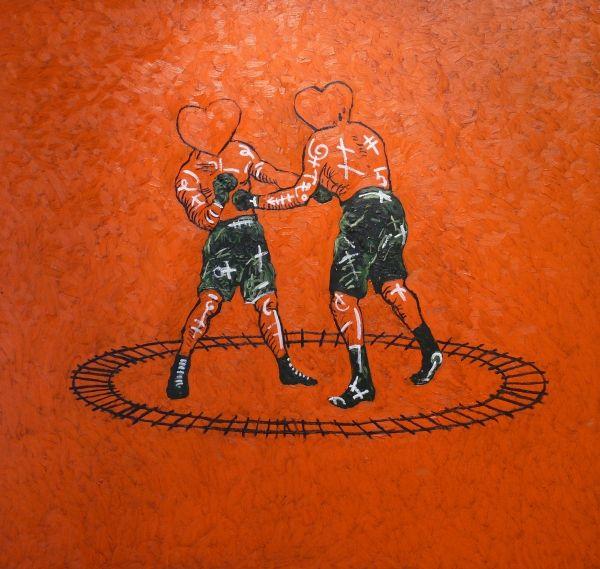 aatoth franyo: Szívverések / Heartbeats - 2005 - 130x137cm - olaj, vászon / oil on canvas