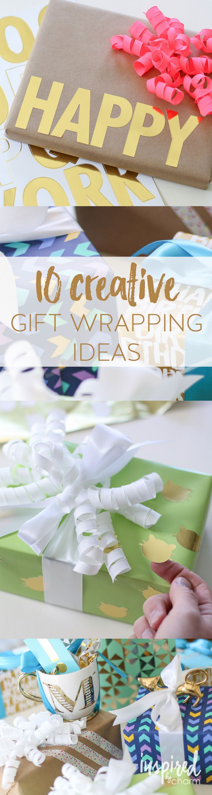 Unique and Creative Gift Wrapping Ideas. Great for birthdays or any celebration.