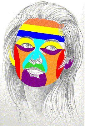 FIORI COLORI E NATURA: Una maschera a colori