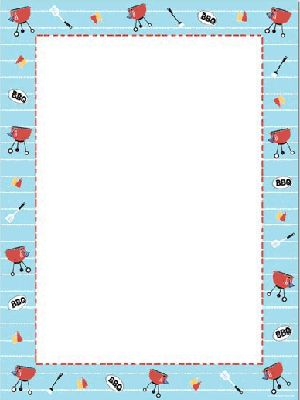 barbecue theme paper from great papers large quantity discount 80 count 85 x 11