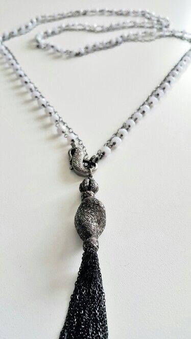 Chalcedony, Diamond, Silver