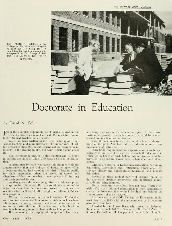 121 best teacher education ohio u images on pinterest the ohio alumnus october 1958 the college of education began offering a doctorate degree malvernweather Image collections