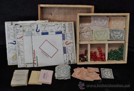 Raro juego de mesa El Pale, tipo monopoly pero mas antiguo. Monopoli. En caja de madera.