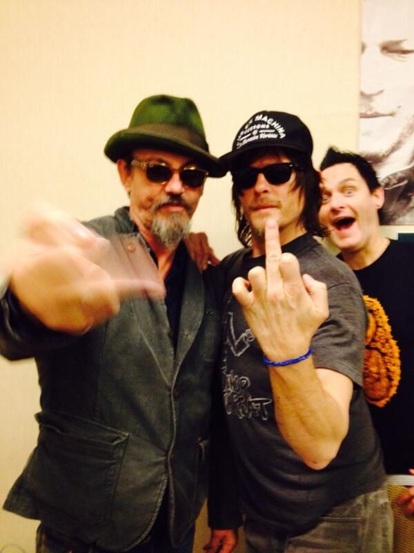 Chibs (Tommy) AND Daryl Dixon (Norman) in one picture???? I may faint.