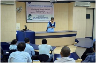 Celebration of National Education Day on Nov. 11, 2014, at Narula Institute of Technology