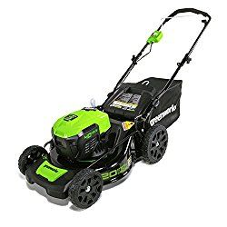 "GreenWorks MO40L00 G-MAX 40V 20"" Brushless Dual Port Lawn Mower, Battery and Charger Not Included"