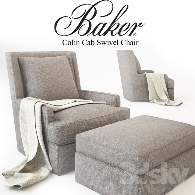 3d models: Arm chair - Baker_Colin Cab Swivel Chair_No. 6712C-SW