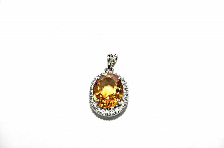 Rare! Natural! Top Genuine Citrine Gemstone Pendant 10.30 Ct 925 Silver Sterling #Handmade #Pendant