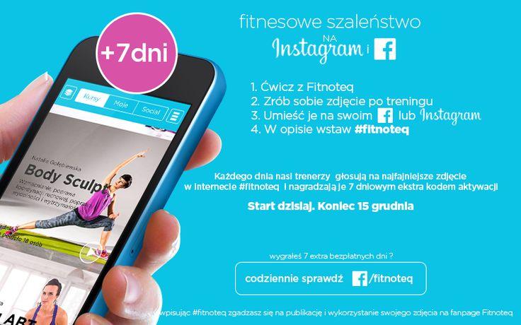 7 ekstra dni z Fitnoteq. Zobacz jak możesz je zdobyć Do 15 grudnia 2014. To proste. Let's get fit.