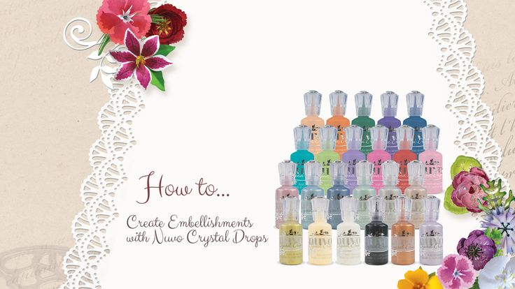 How to Create Embellishments with Nuvo Crystal Drops