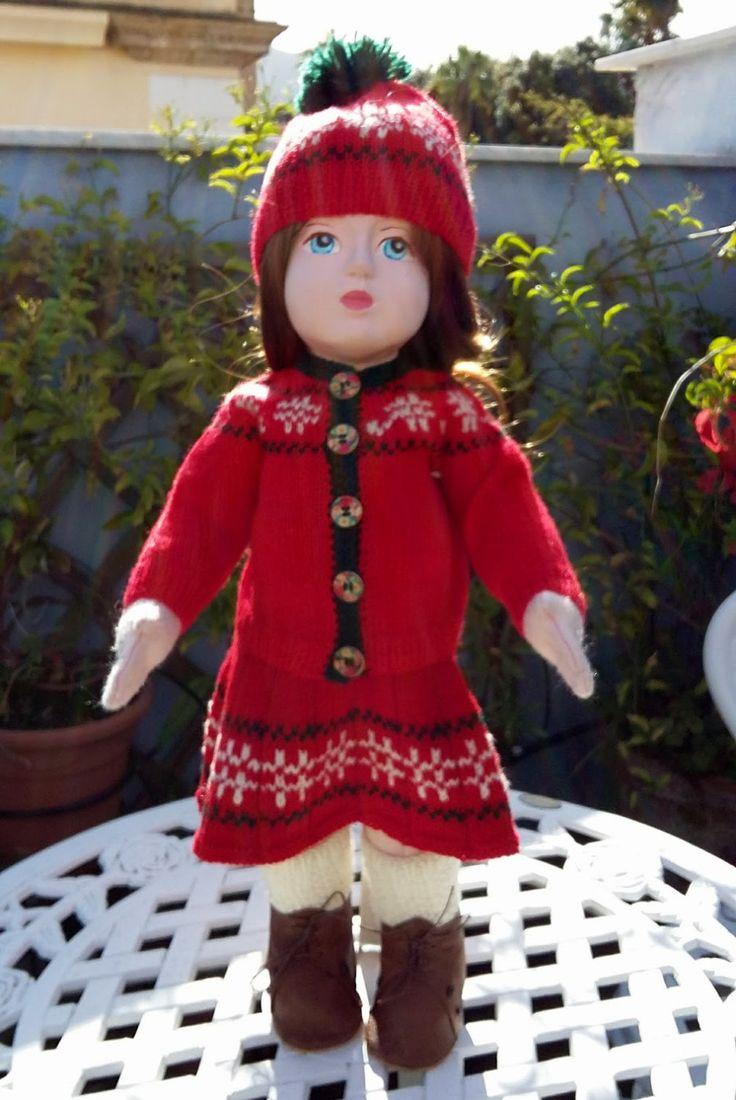Completo per la vigilia di Natale, per bambole alte 18 pollici (46 cm.)