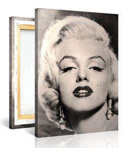 """Schilderij """"Marilyn Monroe"""" (100x75cm) - Schilderijenspeciaalzaak.nl - De digitale print specialist van Nederland!"""