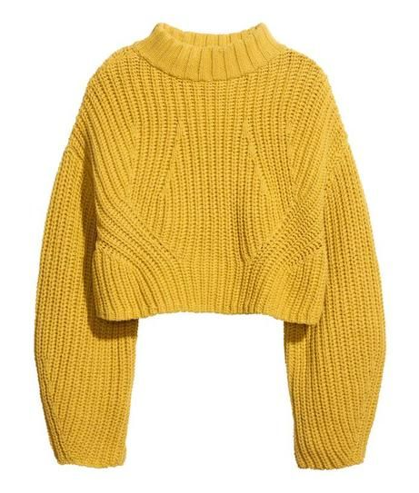 affordable fashion - cropped Sweater, $49.95; at H&M