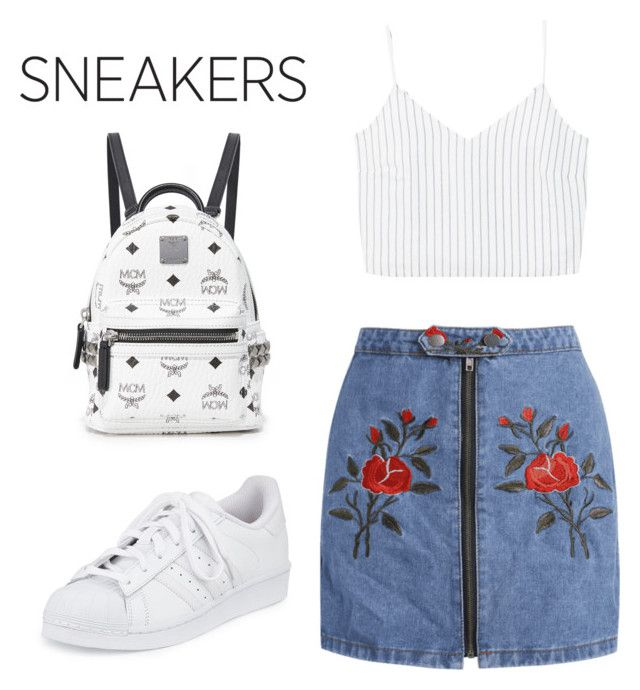 """sneakers"" by geopaganeli on Polyvore featuring adidas, MANGO and MCM"