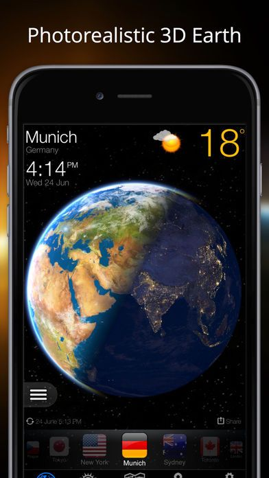 Weather Now US Local Forecast Widget & Alerts on App Store:   Amazingly beautiful 3D images of our planet draws your attention for so long that you may forget that the application has other useful features that a...  Developer: DeluxeWare  Download at http://ift.tt/1smJ19G