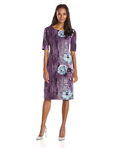 New Maya Brooke Women's Side Border Three Quarter Sleeve Dress online. Enjoy the absolute best in HOMEYEE Dresses from top store. Sku brqq30665ppau15233