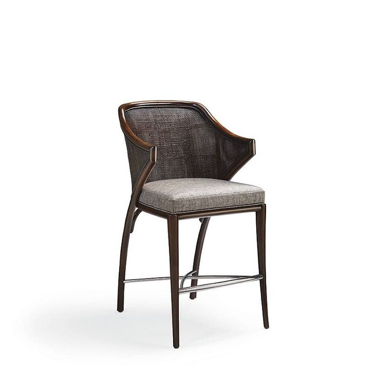 A muse for rooms that defy definition, Miles beguiles with a sweeping mahogany frame, dark cane back, modern stainless-steel stretcher and traditional upholstering. Created by Frontgate designersTightly woven cane back provides breathable supportGenerous cushion creates a luxurious seat Easy-care upholstery and pipingArrives assembledImported.