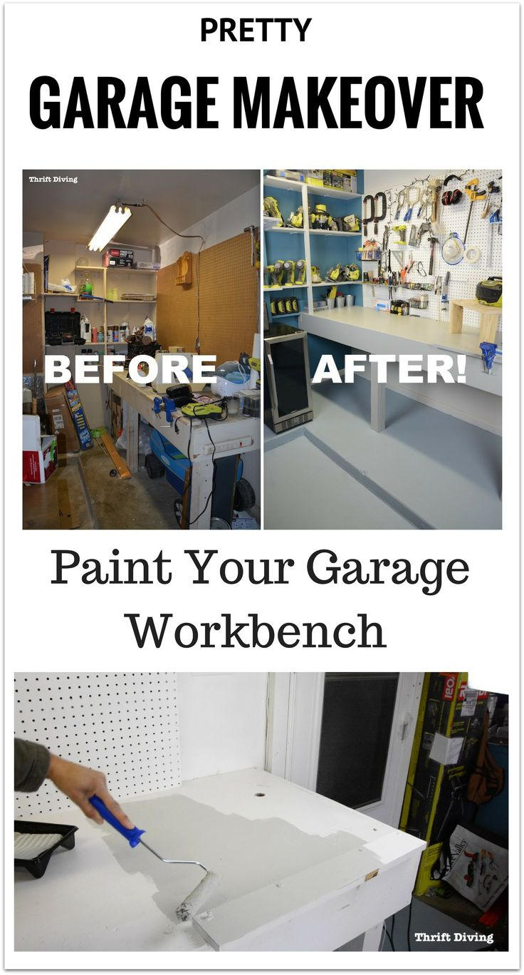777 best before after garage workbench makeover using beyond paint