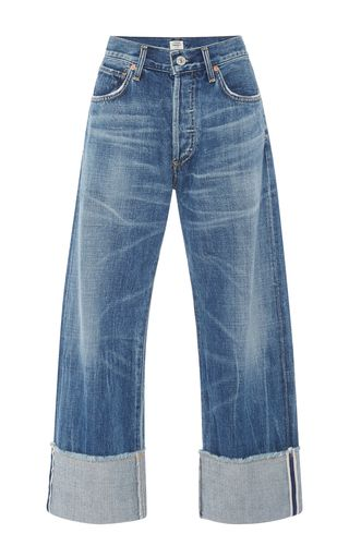 Parker Relaxed Selvedge Cuffed Cropped Jeans by CITIZENS OF HUMANITY Now Available on Moda Operandi