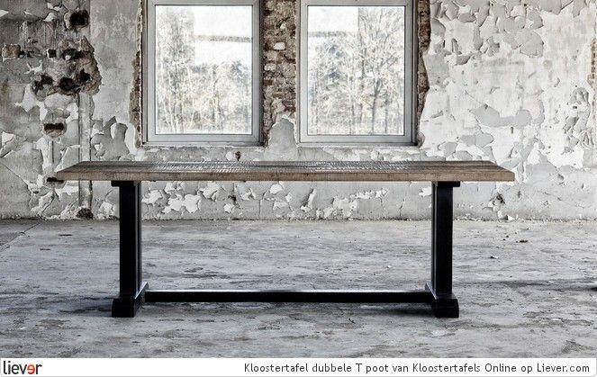 Kloostertafels Online Kloostertafel dubbele T poot - Kloostertafels Online tafels