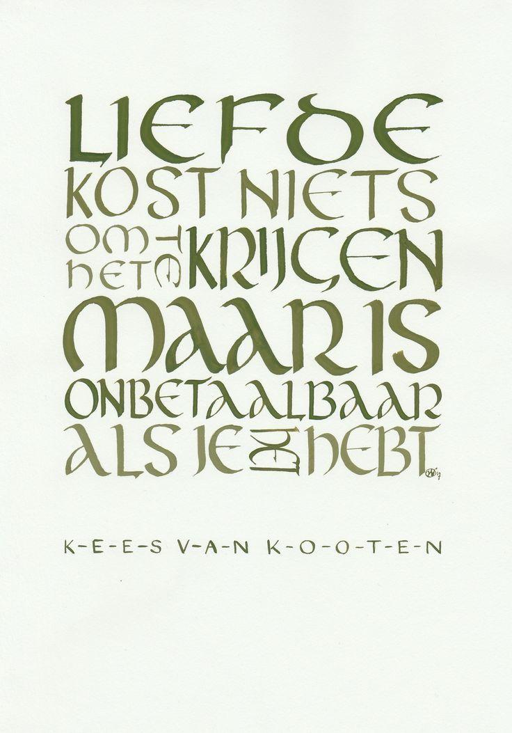 Afbeeldingsresultaat voor kalligrafie teksten