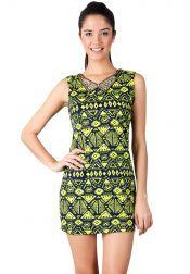 Something Borrowed Petite  Something Borrowed Petite Aztec Dresses Navy yellow