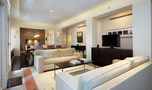 long large continuous art deco apartment style