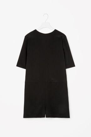 Low-back silk jumpsuit