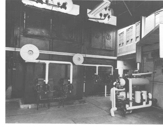 Industrial machinery at the Jam Factory.