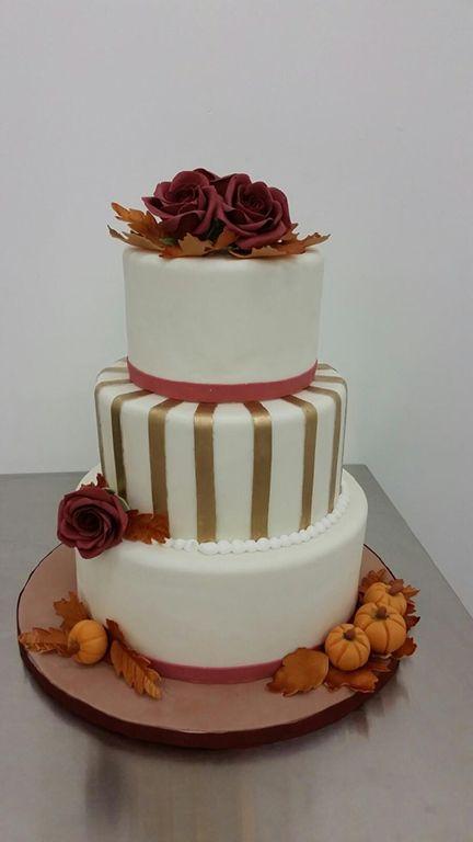 Harvest Wedding Themed Wedding Cake