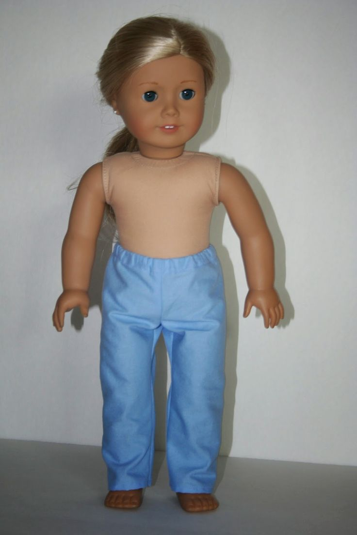 Arts and Crafts for your American Girl Doll: Scrub pants / simple pants for American Girl Doll