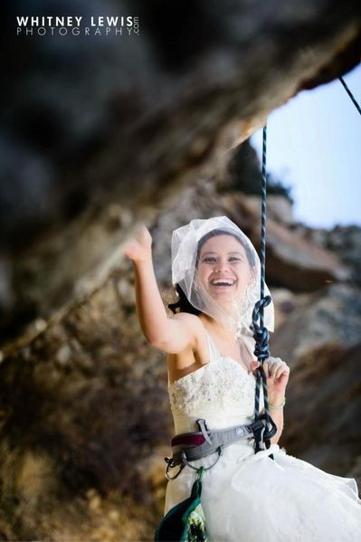 What about a Rock climbing wedding ?