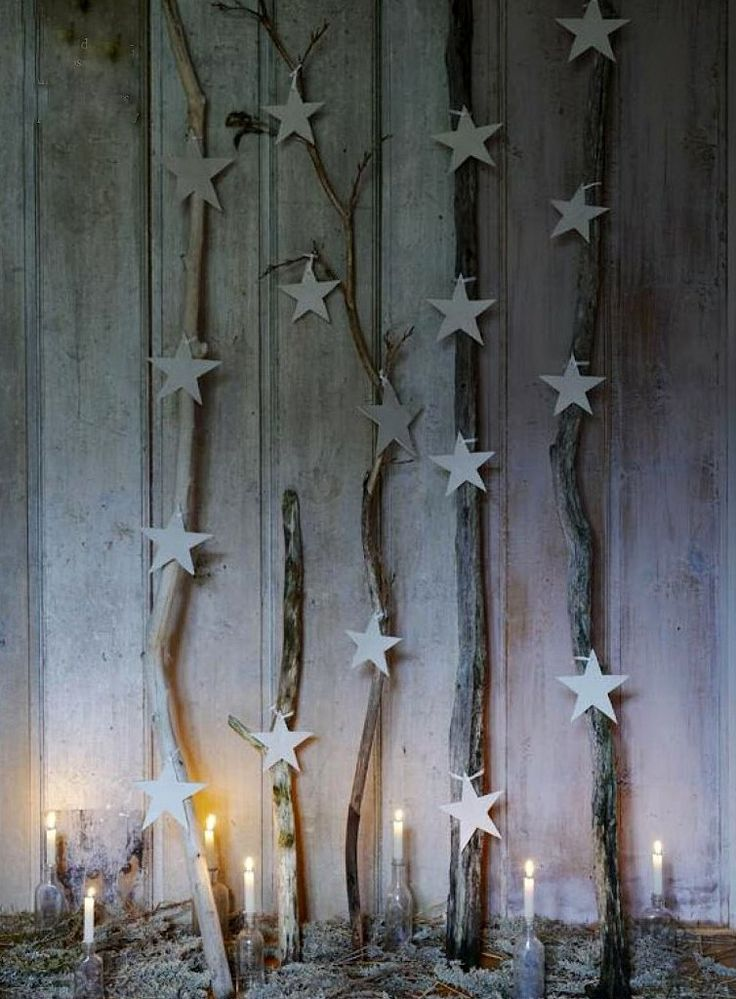 Stars Driftwood Christmas Decorations Home