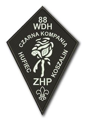 Naszywka 88 WDH Czarna Kompania ZHP Hufiec Koszalin