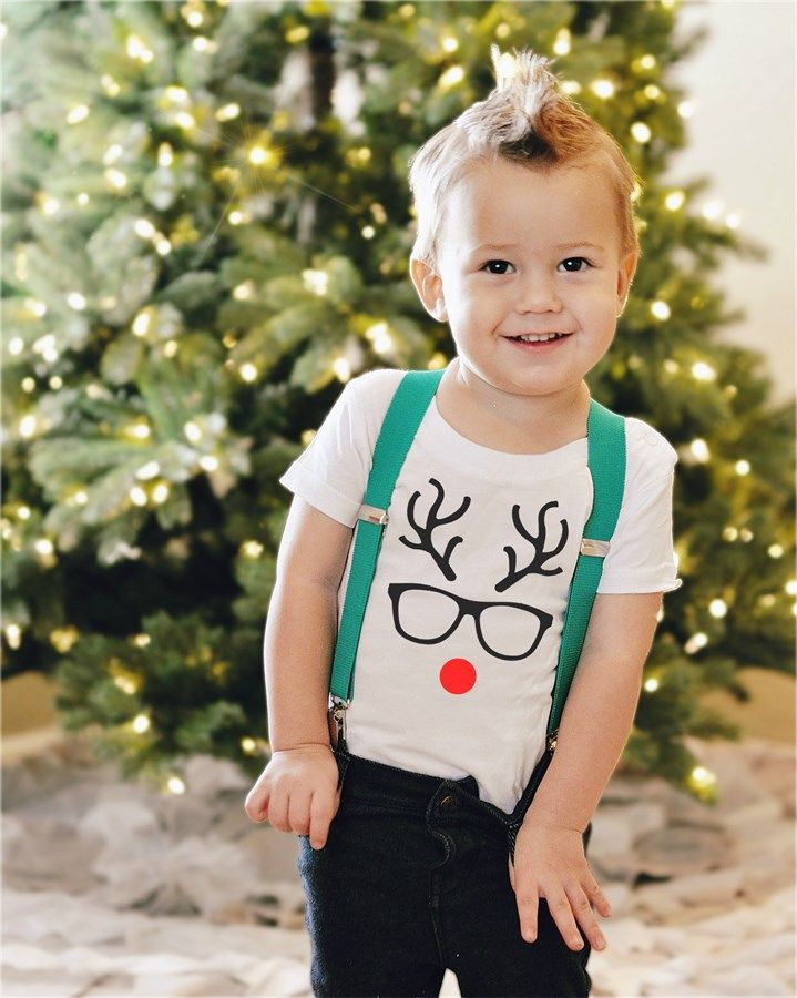 Celebrate Christmas with build-your-own holiday shirts and onesies from Littlest Prince Couture!Choose from the following:Shirt colorsBlackGrayRedWhiteNecklineCrew NeckV NeckDesignArgyle TieElf Tie (Green)Jingle Bells (Red, Green, White, or Black)Nice Until Prove Naughty (Red, Green, White, or Black)Reindeer Glasses (Black or White)Reindeer Silhouette (Black or White)Santa is My Homie (Red, Green, White, or Black)Santa Tie (Red)Santa's Favorite Kid (Red, Green, White, or Black)Striped ...