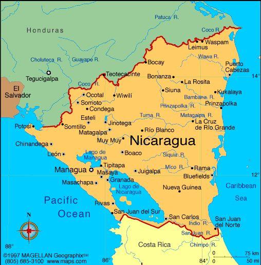 El mapa: Visitarás mucho sitios turísticos, por ejemplo........  El Capital, Managua  La ciudad con mucho cultura, Leon  Y El Lago De Nicaragua