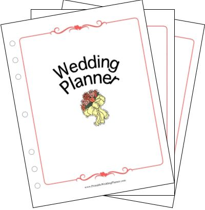 The Wedding Planner Collection includes all of the individual wedding planner pages from this site in both DOC and PDF formats. Free to download and print