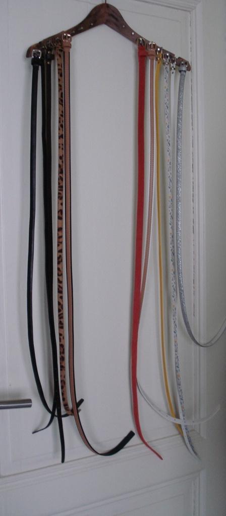 V Belt Storage SolutionsDiy Belthanger Belt Storage How To Your Belts  Coathanger With Nails
