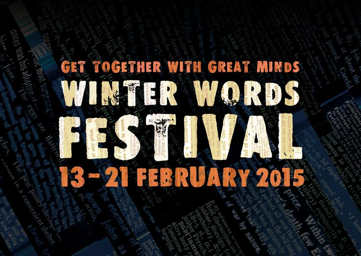 Winter Words Festival returns from 13 - 21 February for an action packed eleventh year!