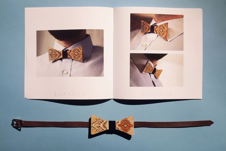 Wooden bow tie by Guerdoo Design. Photo by James Chororos