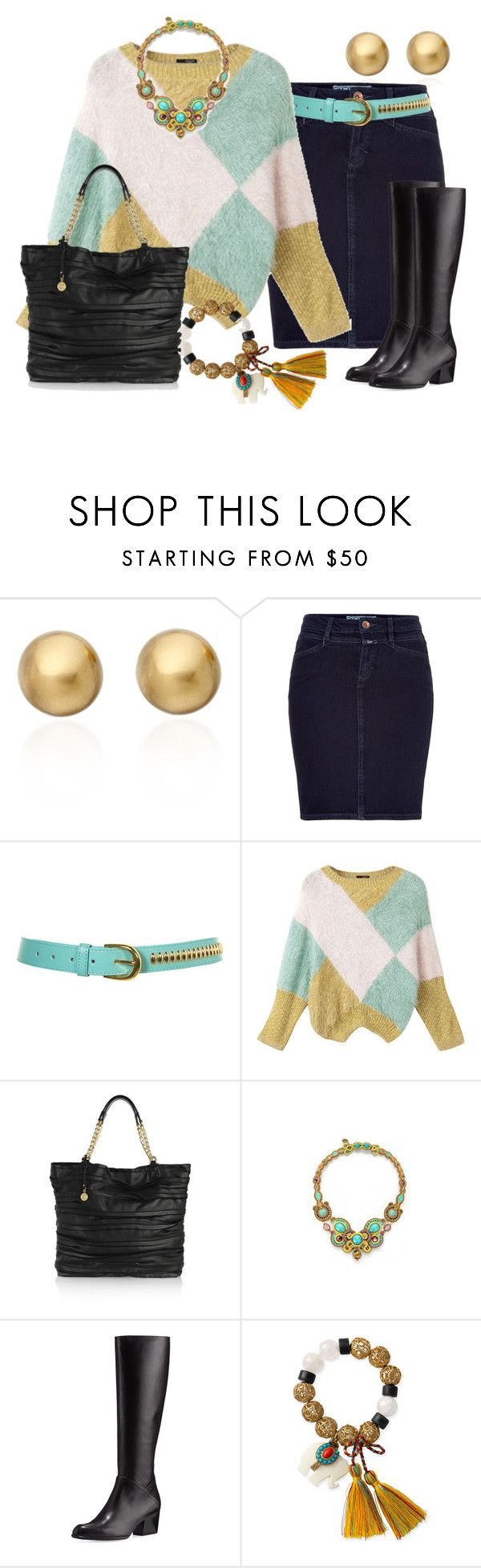 """FALDAS DE JEAN"" by outfits-de-moda2 ❤ liked on Polyvore featuring Astley Clarke, Closed, DKNY, Dori Csengeri, Stuart Weitzman and Juicy Couture"