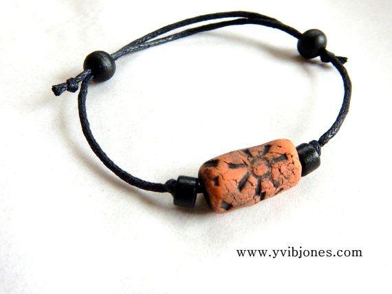 Gift for Men Earthy Simple Bracelet by KilnFiredDiffusers on Etsy