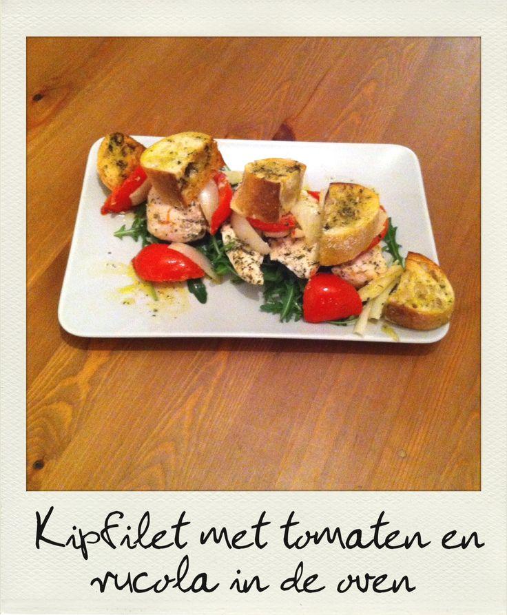 Kipfilet met tomaten en rucola in de oven  Check singlefood.be