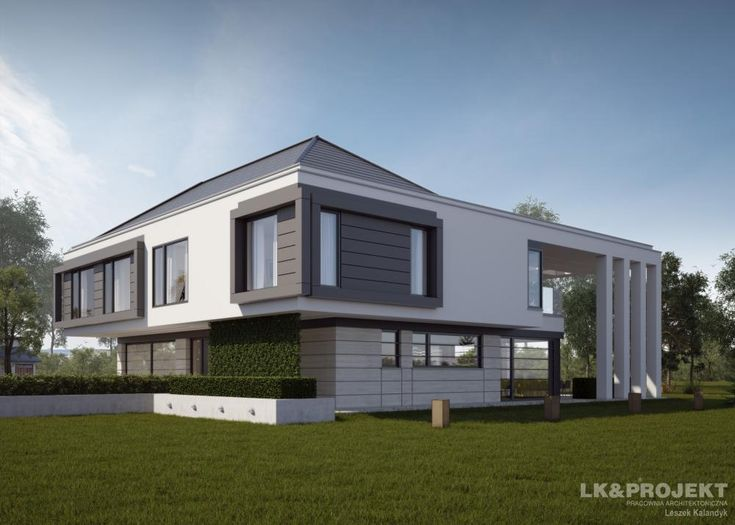 Projekty domów LK&Projekt LK&1274 wizualizacja 2