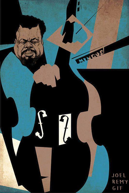 "joelremyj222rgif: ""Charlie MINGUS "" . 50,000 #Jazz & #Blues Tracks & Pics https://twitter.com/JazzBreak Help Others … #jazz ."