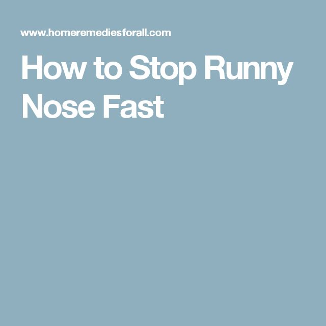 How to Stop Runny Nose Fast